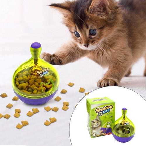 The Treat Shaker Dispenser for your cat! It doubles as a toy AND a treat dispenser