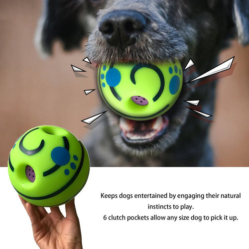 Pet Wobble Wag Giggle Playing Ball - Great Fun Toy Gift For Pet Dog