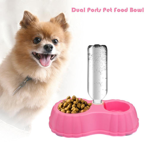 Dual Port Automatic Pet Water Dispenser/Feeder Bowl