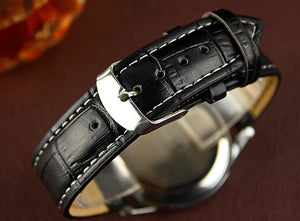 Luxury Fashion Mens Analog Watch With Crocodile Faux Leather Strap - $14.95 ON SALE