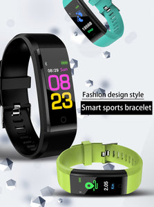 Smart Wristband Bracelet For Men/Women With Heart Rate, Blood Pressure, Pedometer For IOS Android