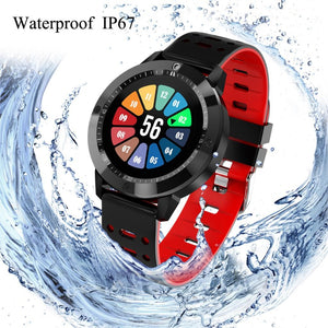 Waterproof Smartwatch With Tempered Glass, Heart Rate Monitor, Fitness Tracker