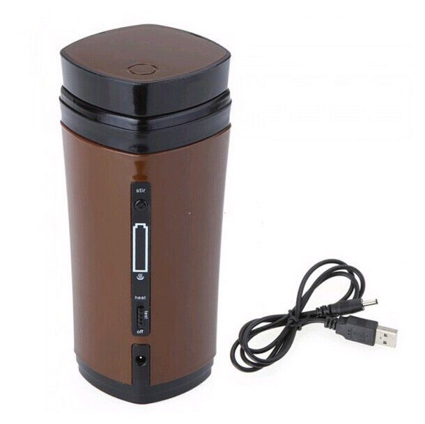 Rechargeable Automatic Electric Insulated Heating Mug With Stirring Function