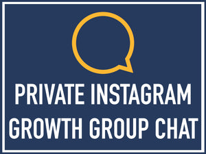 Private Instagram Growth Group Chat