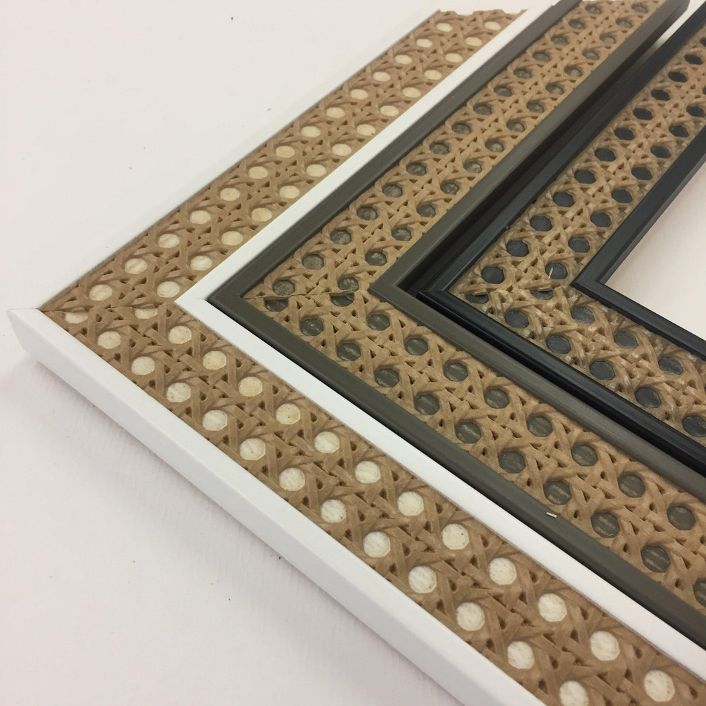 Rattan Wicker Wood Picture Frames -  coastal-frames.myshopify.com