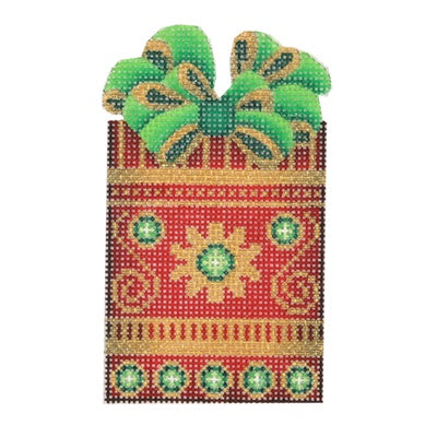 BB 0007 - Package - Red, Gold & Green with Green & Gold Bow