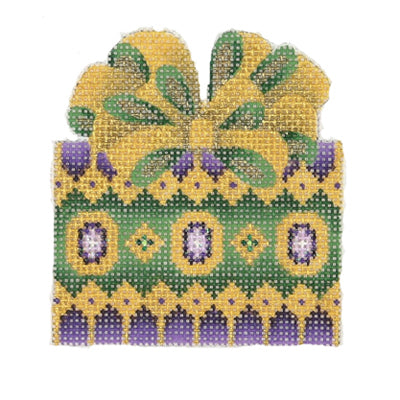 BB 0009 - Package - Green, Purple & Gold with Gold & Green Bow