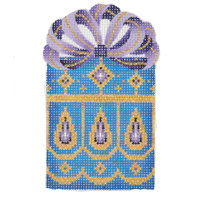 BB 0010 - Package - Blue, Gold & Purple with Purple & Gold Bow