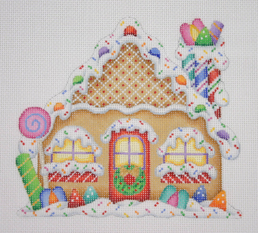 BB 0180 - Gingerbread House - Candy Cane Chimney