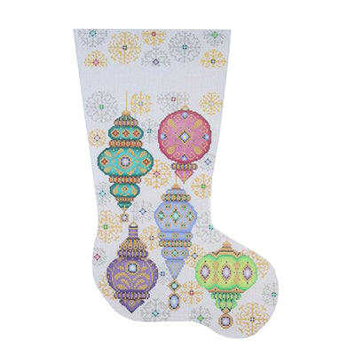 BB 0206 - Christmas Stocking - Christmas Balls & Snowflakes