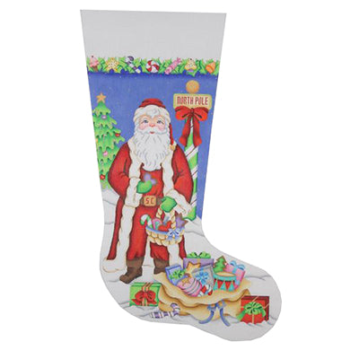 BB 0225 - Christmas Stocking - Santa in Long Red Coat
