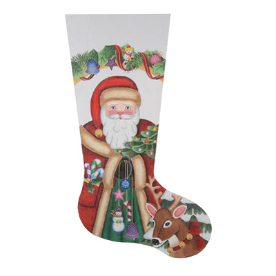 BB 0235 - Christmas Stocking - Santa & Reindeer