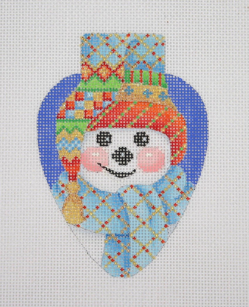 BB 2384 - Snowman with Blue Hat Light Bulb