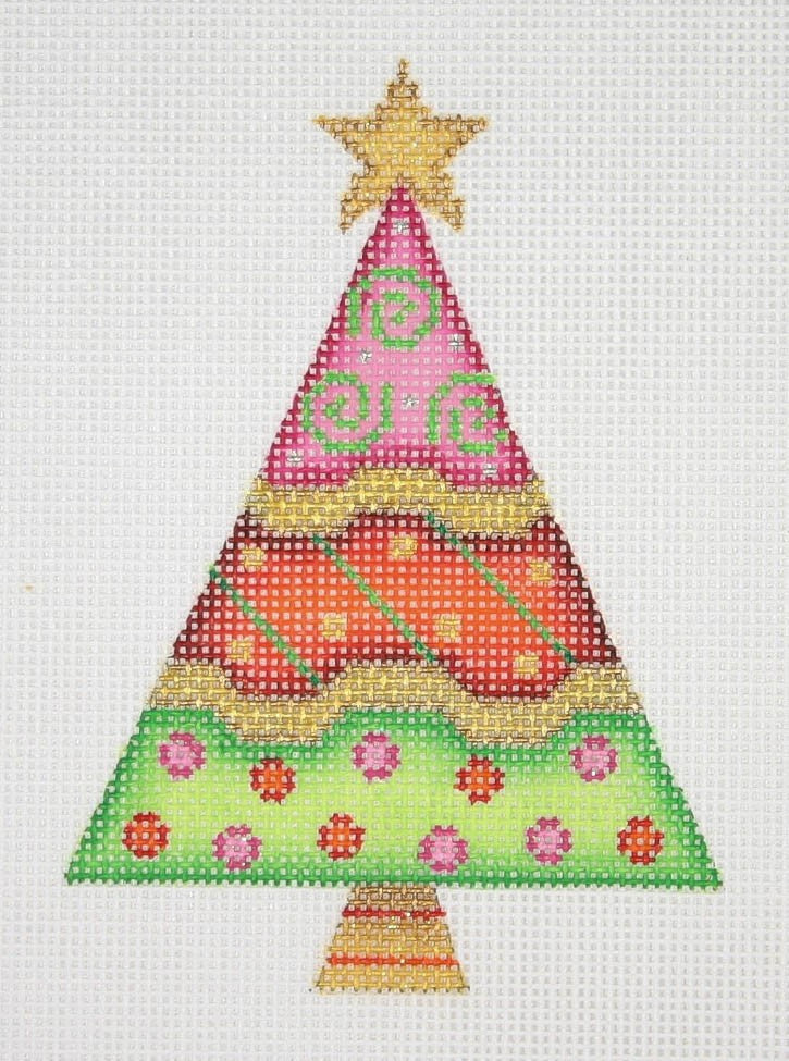 BB 2531 - Triangle Tree - Pink, Red & Green