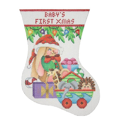 BB 0309 - Baby's First Christmas Mini Stocking - Bunny
