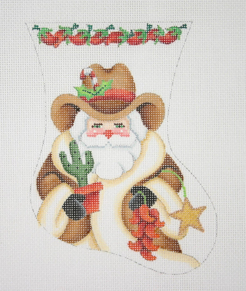 BB 0358 - Mini Stocking - Cowboy Santa