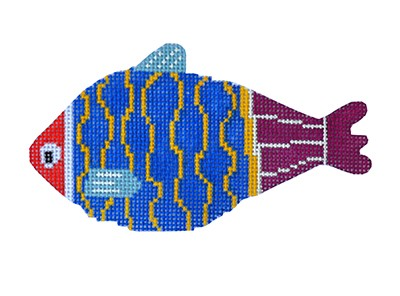 BB 6071 - Casting Crew - Royal Blue, Yellow & Purple Fish