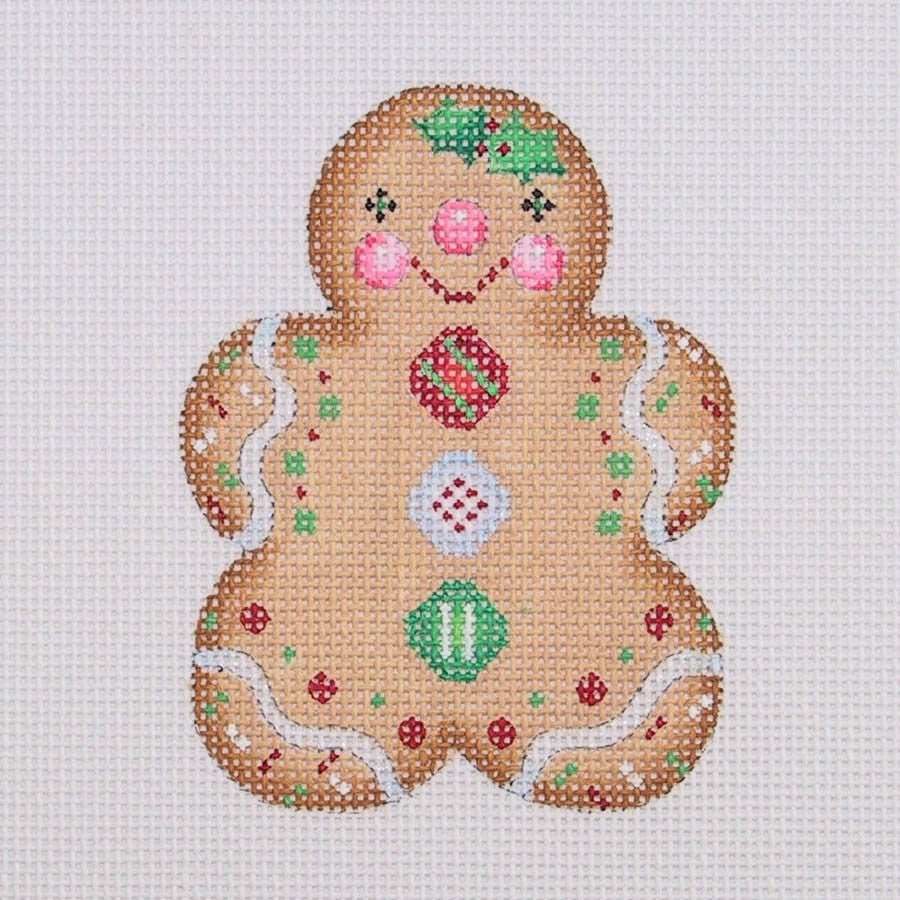 BB 0928 - Gingerbread Girl - Red, White & Green Buttons