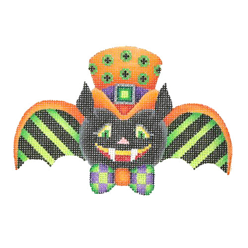 BB 0547 - Bat Boy - Green & Black Stripe Wings