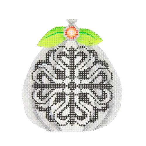 BB 0558 - Pumpkin - Silver with Black Pattern
