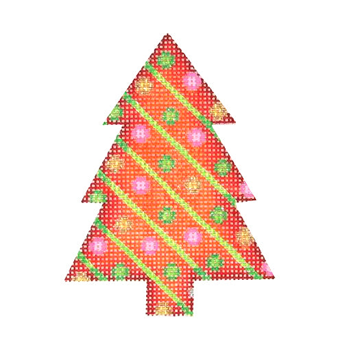 BB 0624 - Mini Tree - Red with Green Stripes