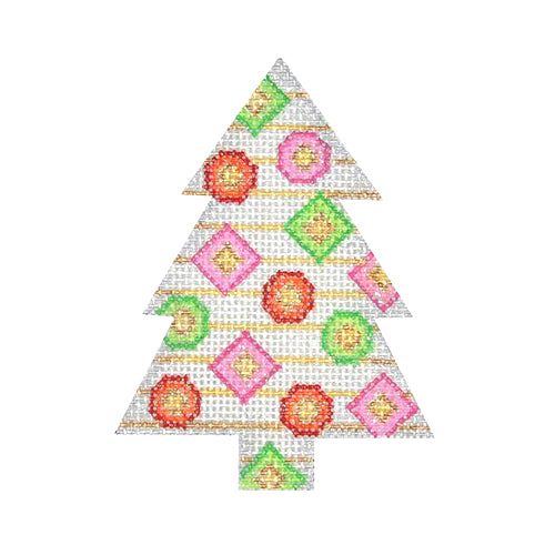 BB 0626 - Mini Tree - White with Jewels