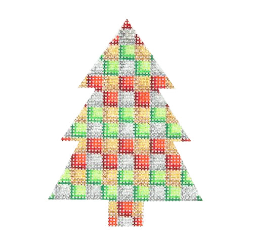 BB 0633 - Mini Tree - Multicolor Checkered Pattern