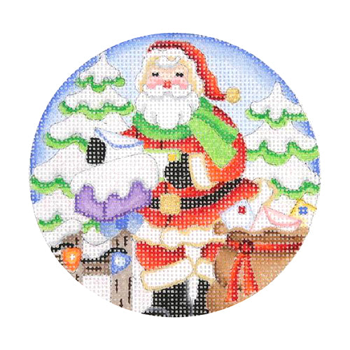 BB 0686 - Snow Scene - Santa Checking Mail