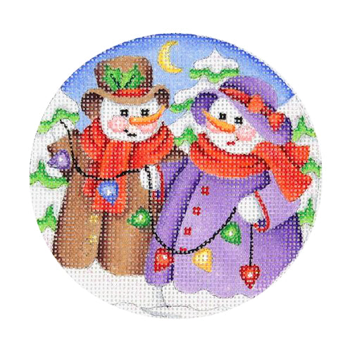 BB 0689 - Snow Scene - Snowcouple Decorating Tree