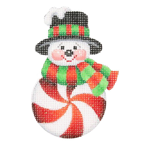 BB 0691 - Snowman Peppermint Red with Black Top Hat