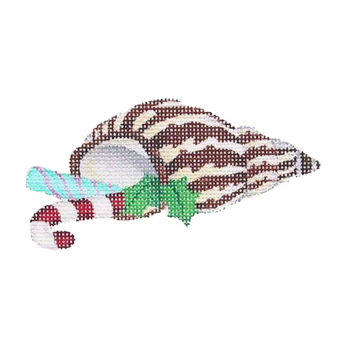BB 0774 - Christmas by the Sea - Cone Shell with Candy & Holly