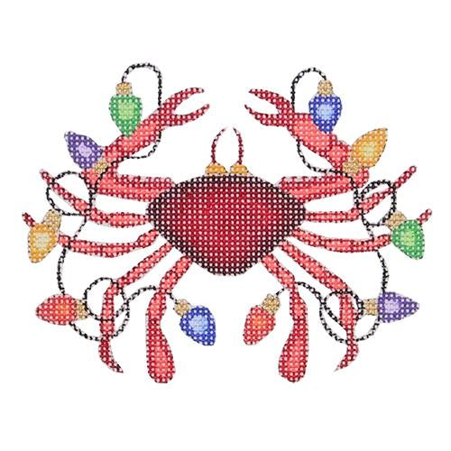 BB 0786 - Christmas by the Sea - Crab with Christmas Lights