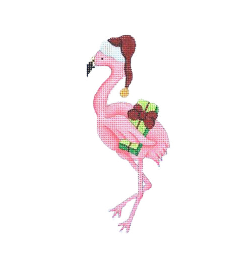 BB 0789 - Christmas by the Sea - Flamingo with Santa Hat