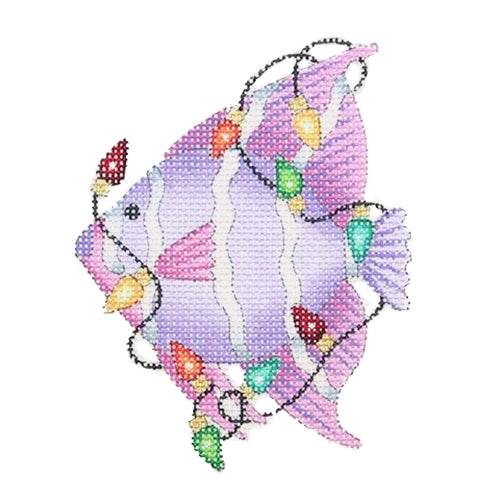 BB 0791 - Christmas by the Sea - Angel Fish with Christmas Lights
