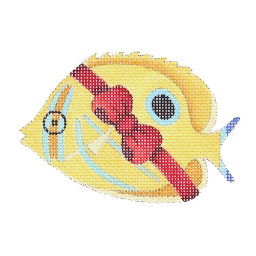BB 0798 - Christmas by the Sea - Butterfly Fish Wrapped in Red Bow