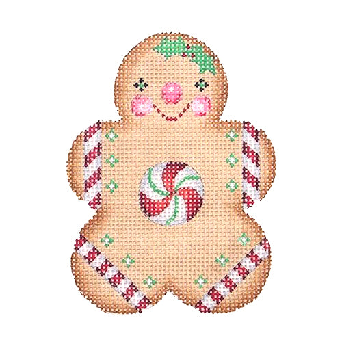 BB 0927 - Gingerbread Boy - Round Peppermint Center
