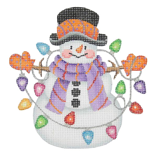 BB 1166 - Snowman with Stick Arms - String of Lights