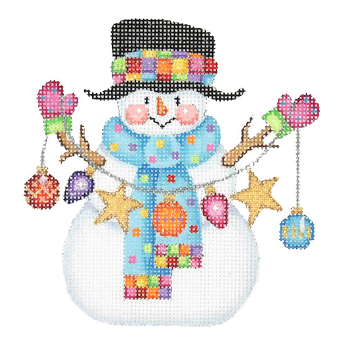 BB 1169 - Snowman with Stick Arms - String of Ornaments