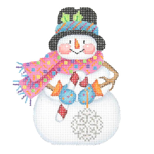 BB 1170 - Snowman with Stick Arms - Snowflake