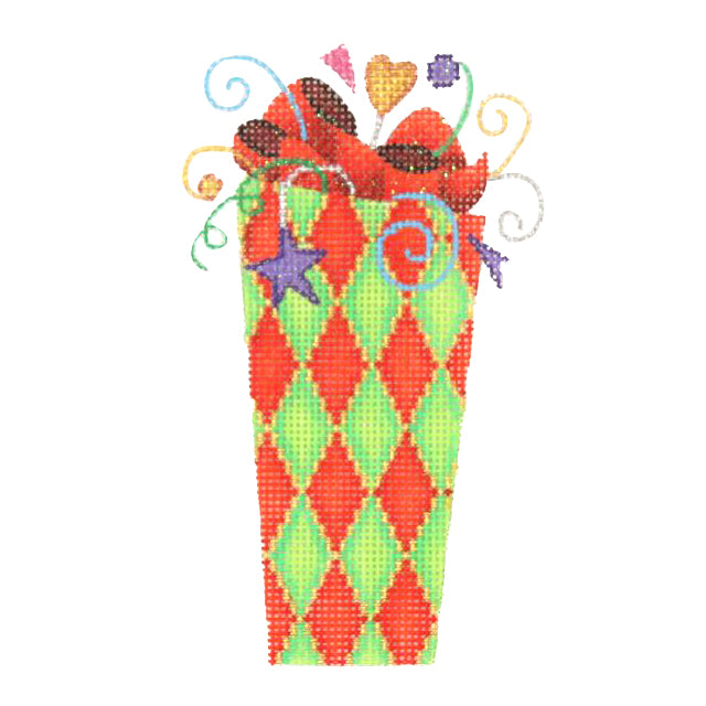 BB 1233 - Tall Package - Green & Red Diamond Pattern
