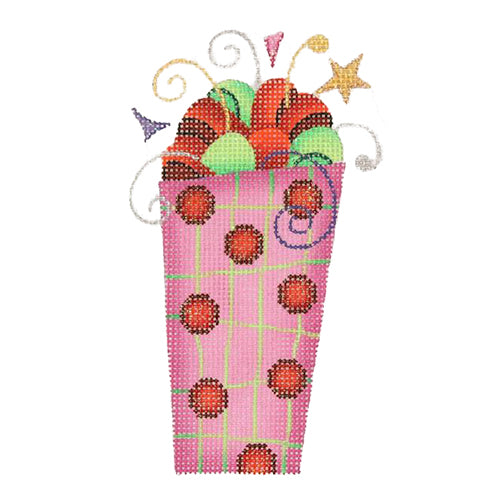 BB 1235 - Tall Package - Pink with Red Dots