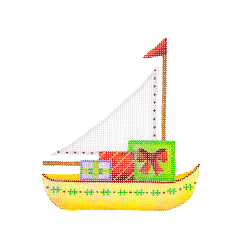 BB 1311 - Christmas by the Sea - Sailboat with Packages