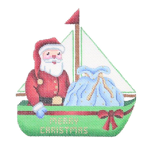 BB 1313 - Christmas by the Sea - Sailboat with Santa