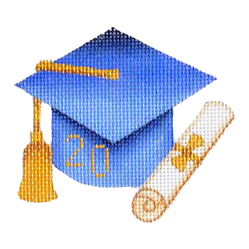 BB 1336 - Graduation Cap - Blue with Year