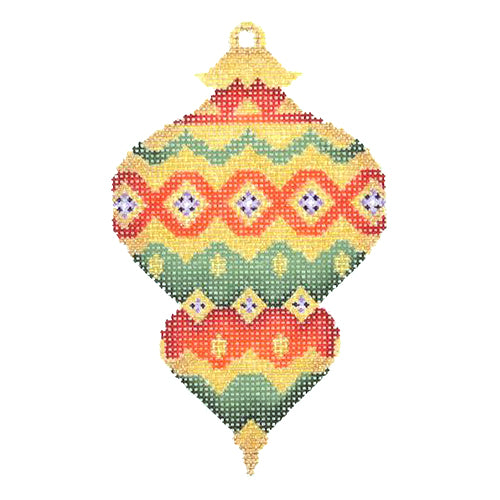 BB 1388 - Jeweled Christmas Ball - Red, Green & Gold