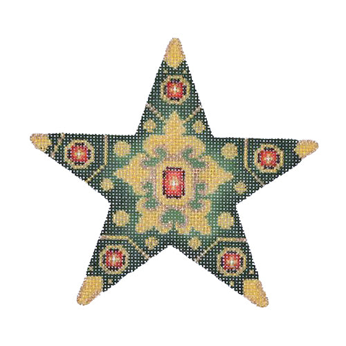 BB 1397 - Jeweled Star - Green & Gold