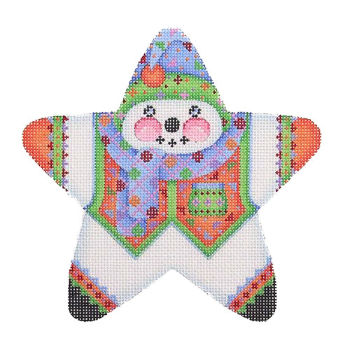 BB 1457 - Star Snowman - Blue & Green Hat