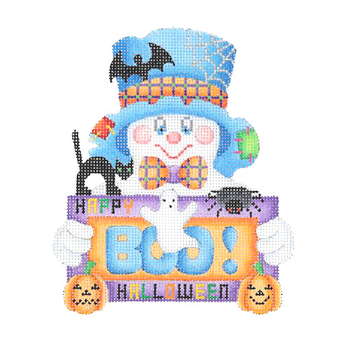 "BB 1626 - Ghost Holding ""Boo"" Sign"