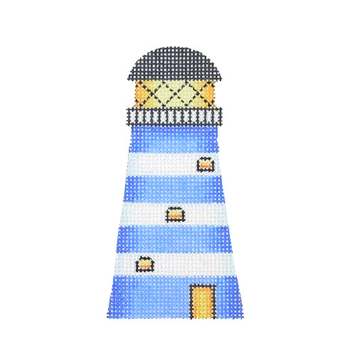 BB 1640 - By the Sea - Lighthouse with Blue & White Stripes