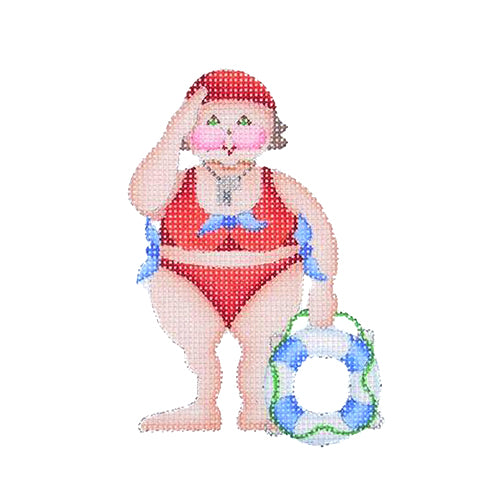 BB 1647 - By the Sea - Harriet the Life Guard in Red Swimsuit